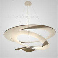 Italian modern design rotate aluminum pendant lighting LED decorative indoor lighting
