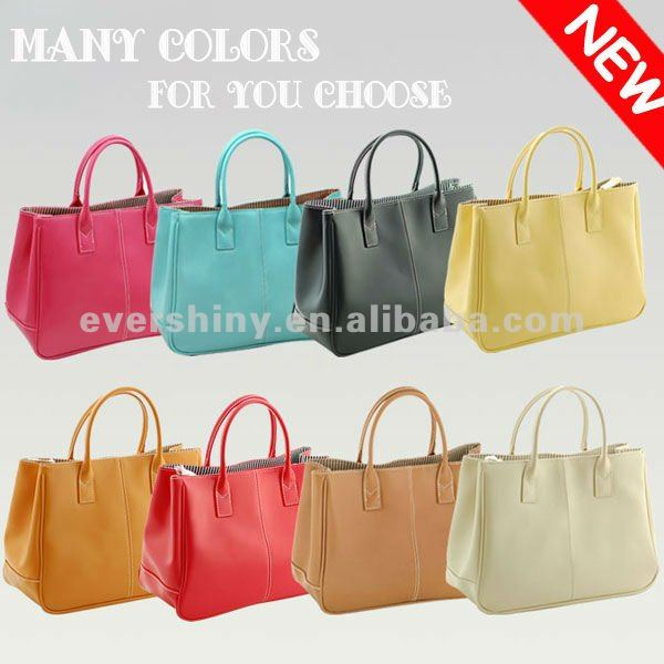 New Fashion Candy Colors Soft PU Leather handbags 2012 Shoulder Tote Bag Hot Sell