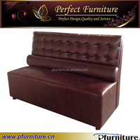 Leather modern restaurant sofa booth