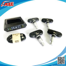Wireless solar energy car tire pressure monitoring system with 4 internal sensors TPMS