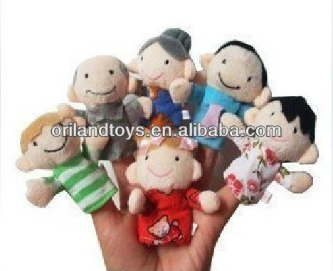 six people family finger puppet toy