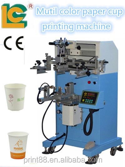 plastic/paper cup bottle Multi-color Silk Screen Printing/digital T-shirt screen printing machines LC-PA-400E
