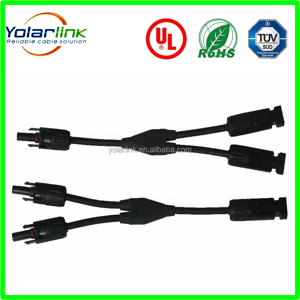 TUV IP67 Solar MC4/MC4 T/MC4 Y Solar Cable Connector (Male+Female) 2.5/4/6/mm2 For Solar Panel
