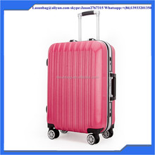 2015 Hot Fashion super light pink Travel Style Trolley Luggage Bags set for girls women