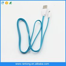 Hot selling high quality triangle usb flat data cable for iphone with package