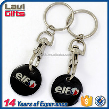 2017 Hot style cheap trolley coin keyring