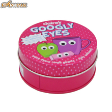 Candy tin cans storage containers with lids pink storage boxes