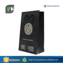 Cheap Black Art Carrier Paper Bag with PP Rope Handle