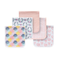 5 pack absorbent towels burping rags baby burp cloths for boys and girls