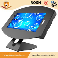 "Powder Coat Cold Rolled Steel Tilt Rotate Adjustable Exhibision Tablet Kiosk Stand For 7""-14"" Samsung PC"