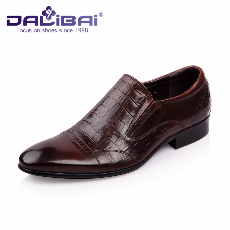 Black Cow Leather Upper Loafers Formal Dress Shoes For Men