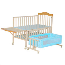 Solid pine wood baby crib attched bed/baby cradle bed extender for baby