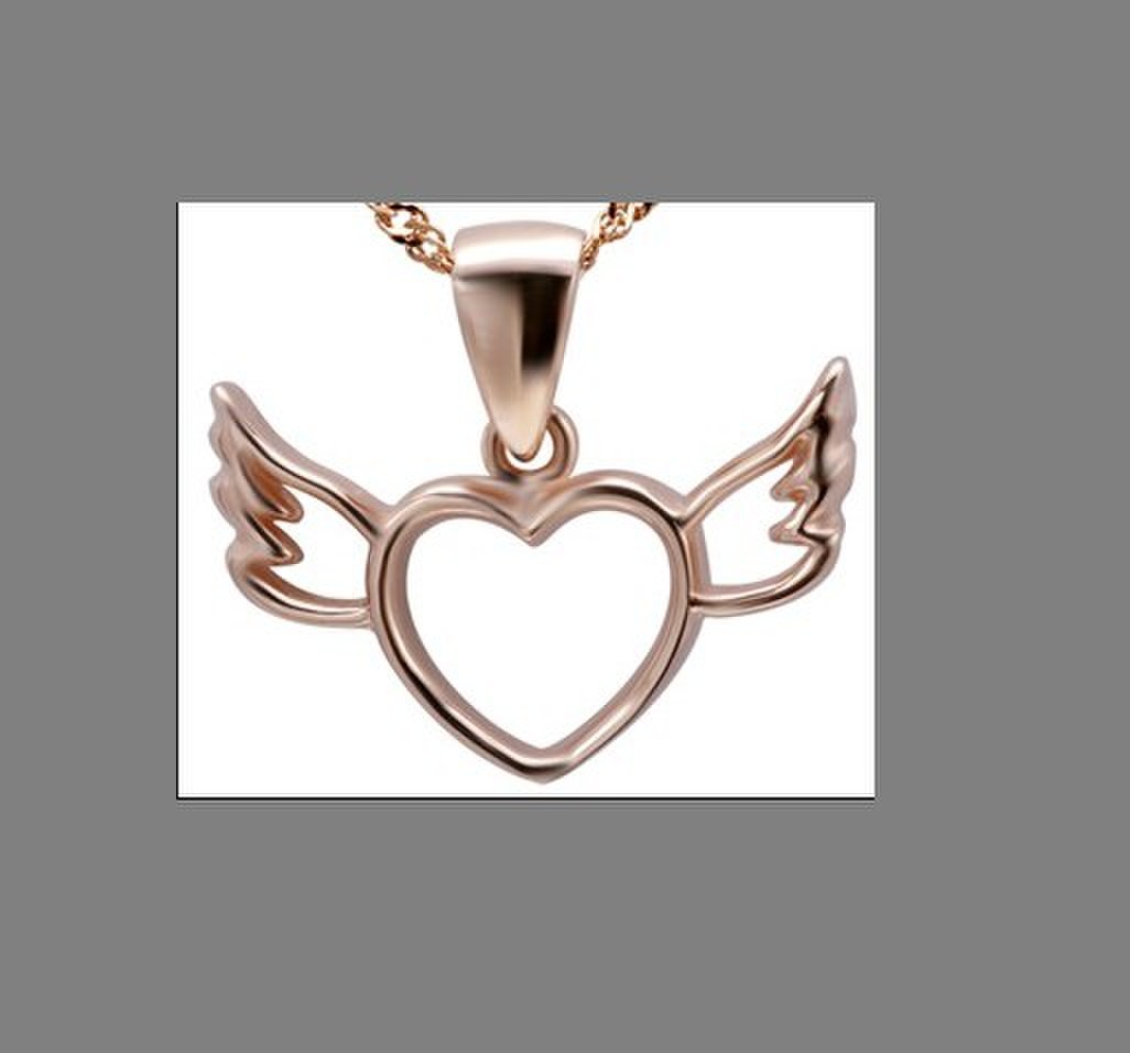 Angels Wing necklace, necklace pendant, sterling silver necklace(PS02530)