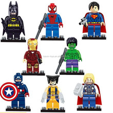 10207564 Collectable Toys Minifigures Blocks ABS 8 modles super hero