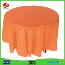 "Plastic Table Cover 54""x108"" round plastic table cover"