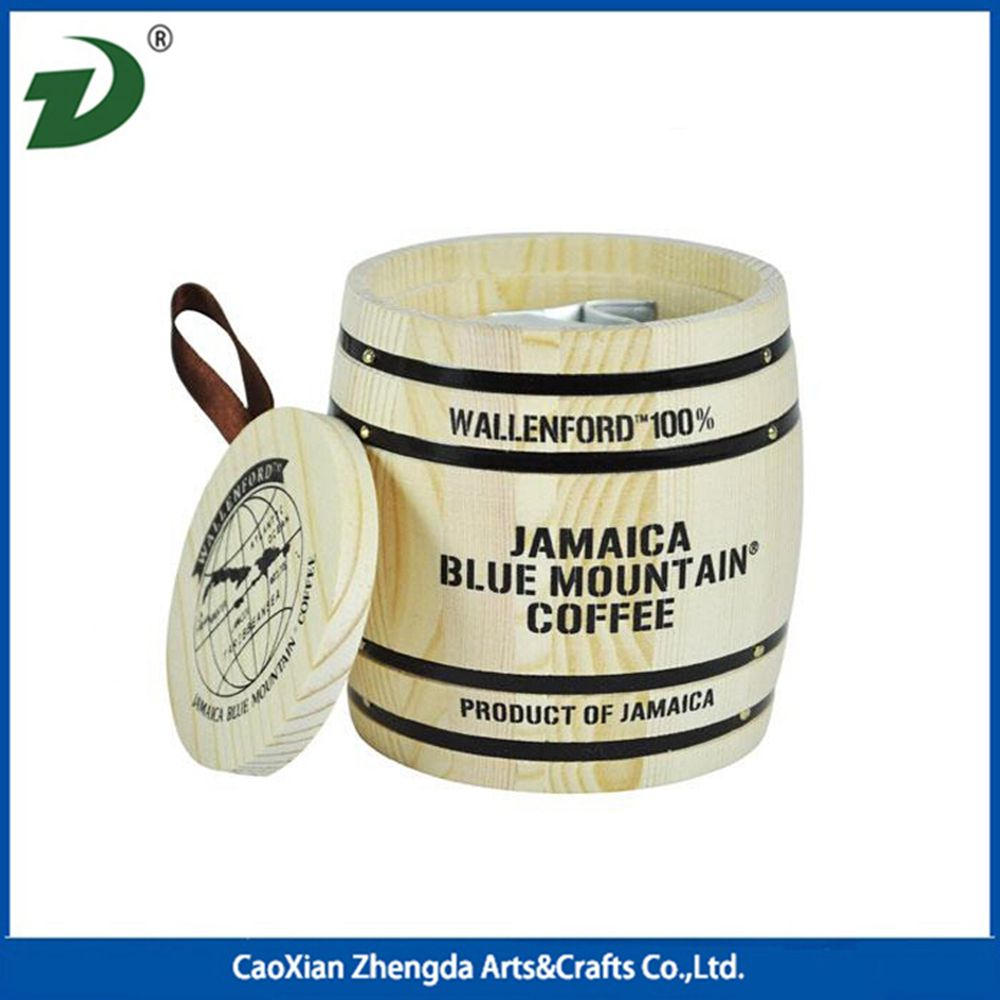 2017 Superseptember cheap Caoxian wood craft wooden barrel for coffee