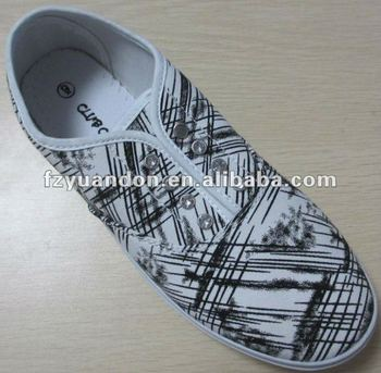 Students used flat women casual Canvas ladies Shoes