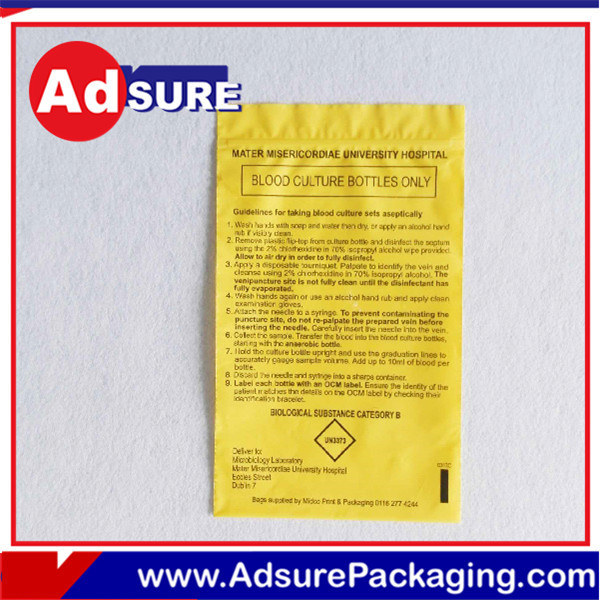 Wholesale gift wrapping plastic bags thermal bags for medicines single with low price