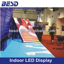 Dance floor led indoor full color stair led display, stage activity dance floor led screen, dance floor led screen