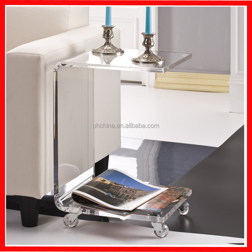 Acrylic table furniture small perspex furniture plastic for Perspex furniture