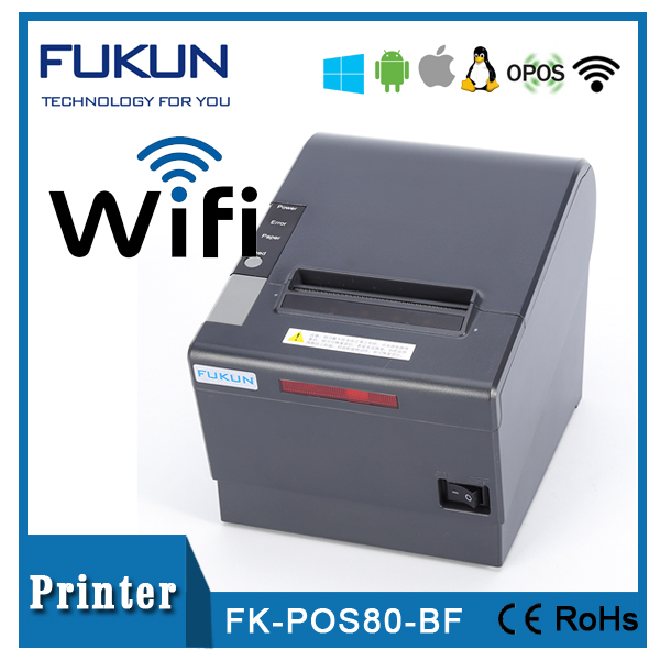 Fukun 80mm 300mm/s wireless wifi thermal receipt printer with auto cutter FK-POS80-BF