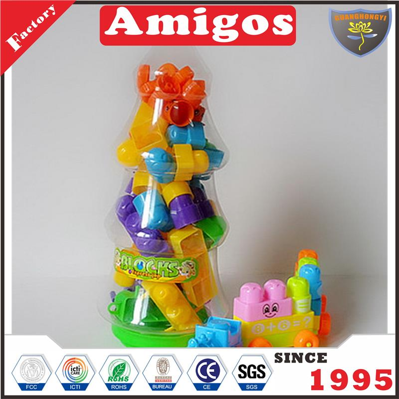 educational wooden toy Funny toys christmas tree,58 pcs cute cartoon block
