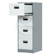 High-end KD office metal 4 drawer steel filing cabinet storage furniture