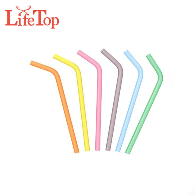 Extra Long Flexible Food Grade Silicone Cool Drinking Straws