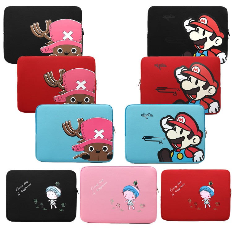 15 inch laptop sleeve cartoon zipper bag waterproof laptop bag neoprene laptop case