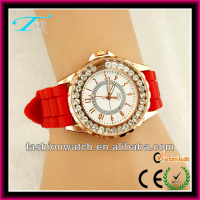 POP Fashion promotional christmas 2013 new hot items gifts crystal silicone glitter watch