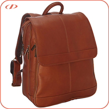 Full grain vacquetta cowhide laptop bag free sample cheap wholesale mens fashionable leather backpack laptop bags