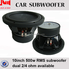Good price 10 inch speaker for bass dual 4 ohm 500w rms power car subwoofer