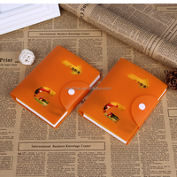 promotional pvc sticky memo book/pvc cover sticky notes with pen