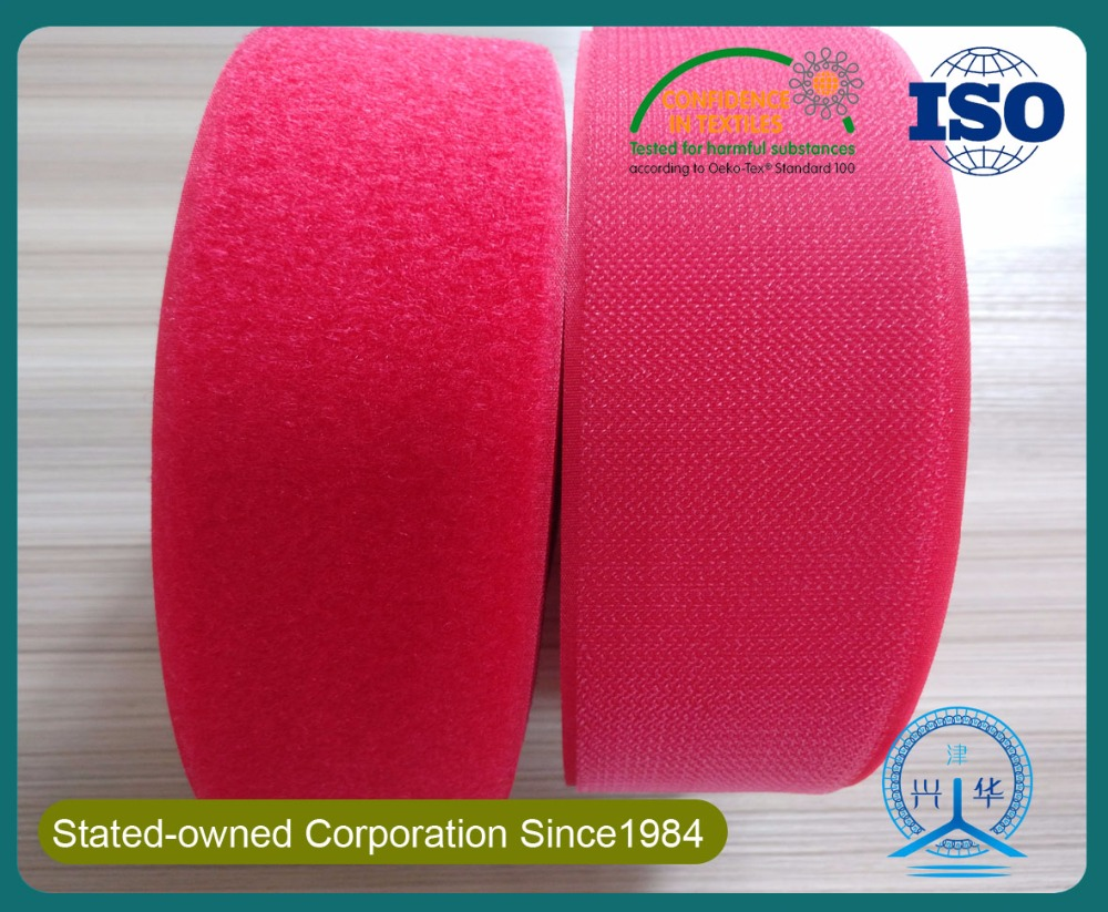 Professional durable and fire retardant high frequency hook and loop tape/roll