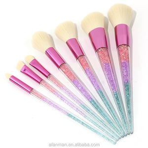 Free Sample Cosmetic Crystal Makeup Brush Set Best Selling Products Oval Makeup Kits