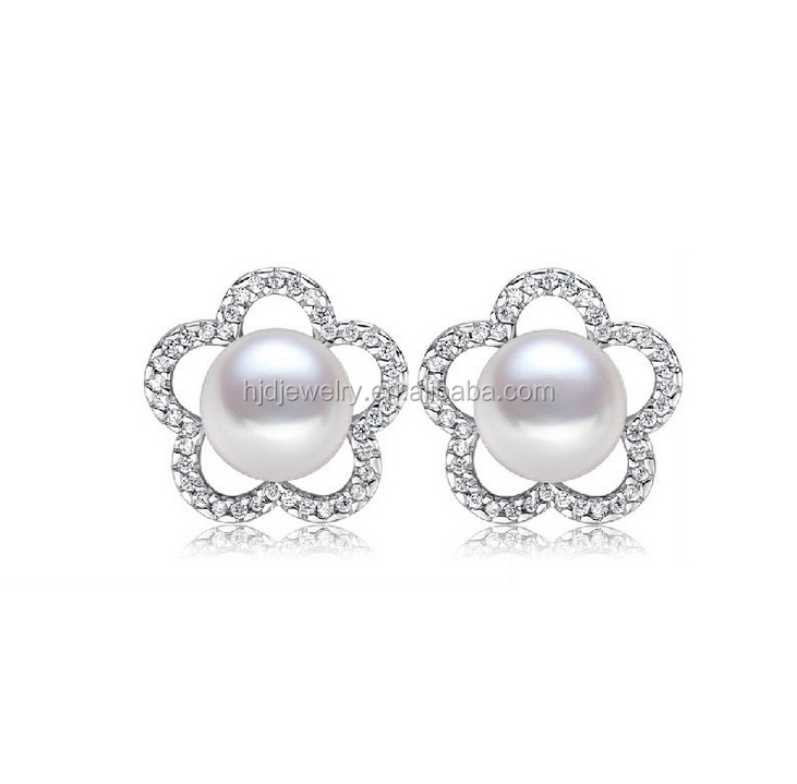 2015 New style real pearl earing for invitation