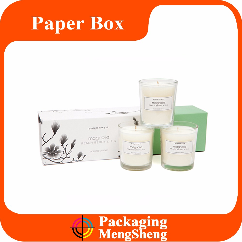 Wholesale Luxury Custom Cardboard Packaging Paper Candle Box Design