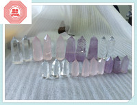 2015 new items Wholesale Natural Quartz Metaphysical Obelisk Pattern Healing Crystal Wands