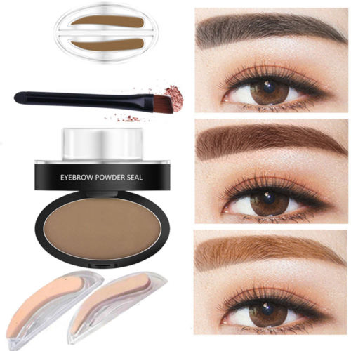 2017 Top new 6 sizes eyebrow stamp powder beauty cosmetic eyebrow stamps
