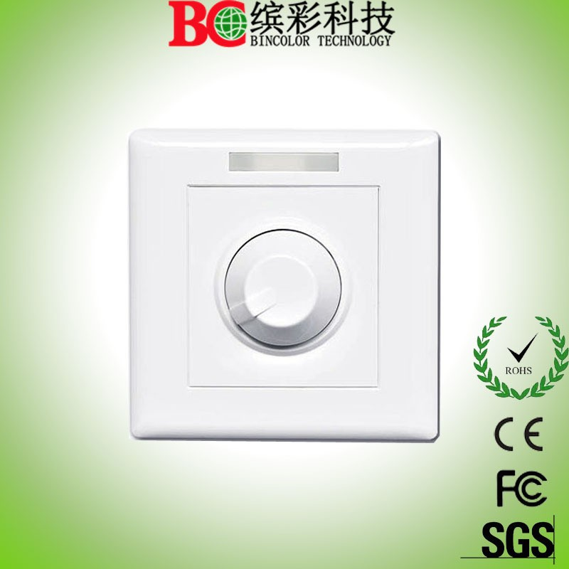 Standard 86-style socket infinite knob wall mounted 10A led dimming controller