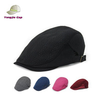 high quality stock Solid color Newsboy Beret Cabbie Gatsby Flat Golf Hat