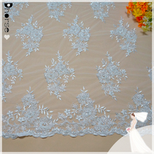 Wholesale 100% polyester border embroidered bridal lace trim DH-BF772