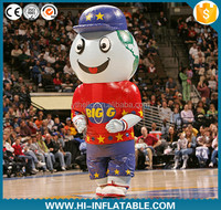 Hot sale advertising moving cartoon inflatable basketball football mascot costume