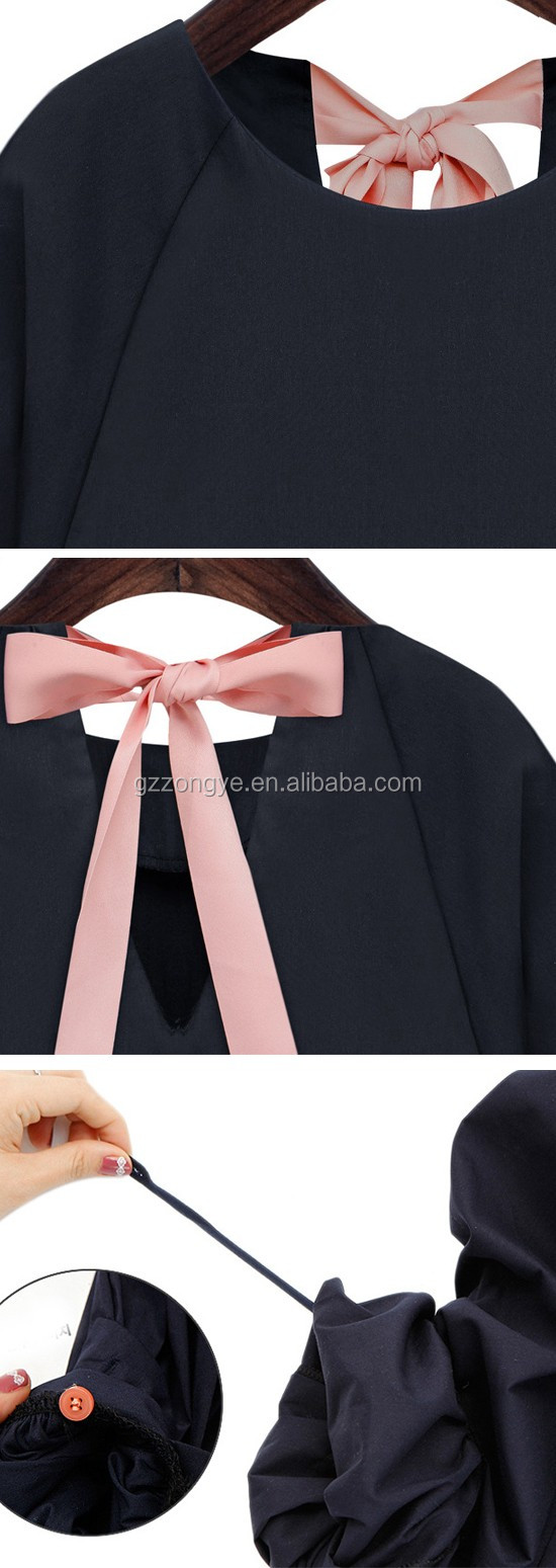 High quality elegant 100% polyester women's blouses and tops