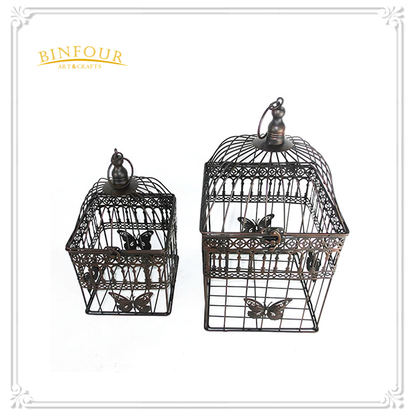Butterfly metal craft design bird cage for home deco