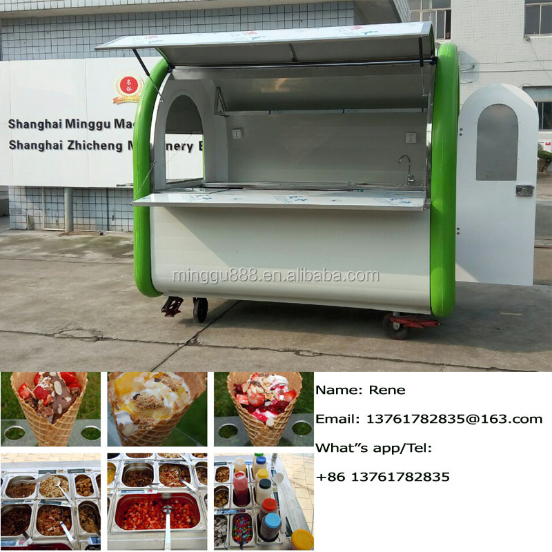 Mobile food cart/ portable food cart/ deep fryer cart