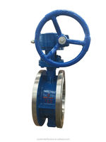 Cast Iron /WCB Flange Type With PTFE Butterfly Valve
