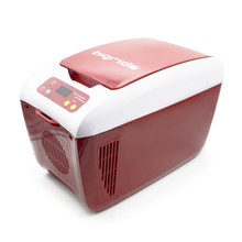 Thermoelectric Cooler Box 12V 8L Mini Car Fridge, with Temp Display / Presetting Functions and Warmer