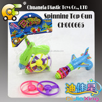 Plastic Flying Saucer Gun, Spinning top gun , classic toys for kids