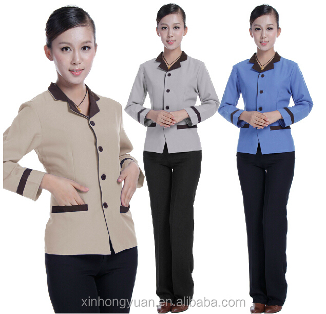 winter hotel housekeeping uniform PA workwear for women
